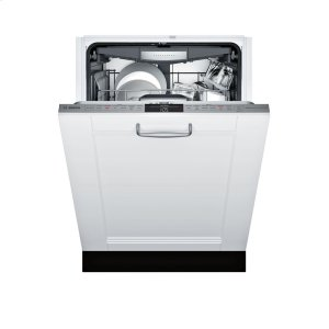 Bosch800 DLX Custom Panel, 6/5 cycles, 42 dBA, Flex 3rd Rck, UR Glide, Touch Cntrls, InfoLight - CP