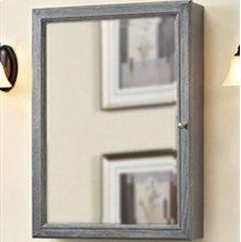 "Rustic Chic 22"" Medicine Cabinet - Silvered Oak"