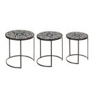 Blue & White Scroll Tile Nested Table (3 pc. set) Product Image