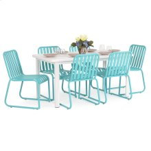 0100 Series 7PC Dining Set Turquoise