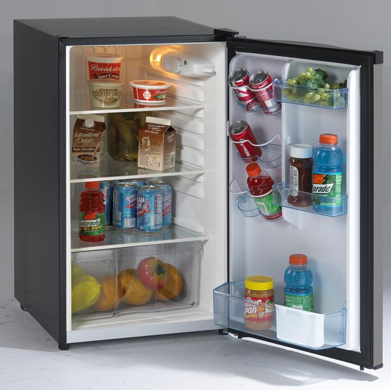 4.4 CF Counterhigh Refrigerator  BLACK W/STAINLESS STEEL DOOR