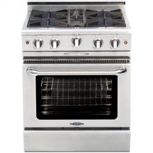 """30"""" Gas Self Clean w/ Rotisserie in Oven, 4 Burners"""
