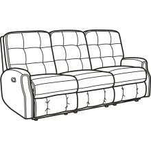 Devon Fabric Reclining Sofa without Nailhead Trim
