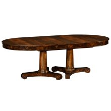 Mahogany Two Self Storing Leaves Biedermeier Style Dining Table