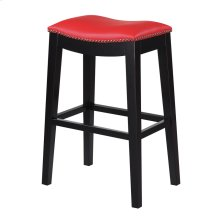 30'' Bar Stool W/no Back-kd-pu Red#al850-5 (2/ctn)