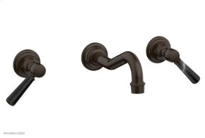 HENRI Wall Tub Set - Marble Lever Handles 161-58 - Antique Bronze