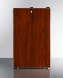 "ADA Compliant 20"" Wide Built-in Undercounter Refrigerator-freezer With A Lock, Custom Door for Slide-in Panels and Black Exterior"