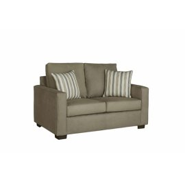 Love Seat - Stone Microfiber Finish