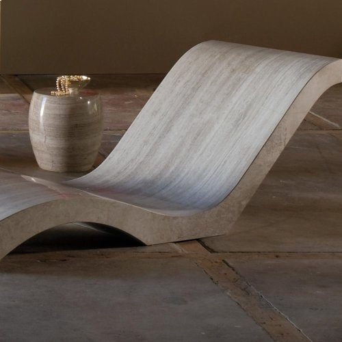 Siena Adagio Chaise Lounge Silver Travertine