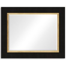 "Charcoal & Gold ""Homespun"" Mirror"