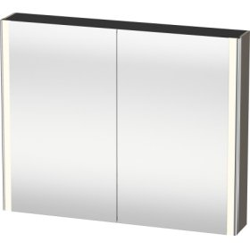 Mirror Cabinet, Flannel Grey Satin Matt Lacquer