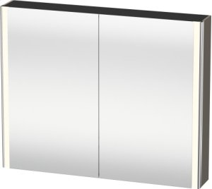 Mirror Cabinet, Flannel Grey Satin Matt Lacquer