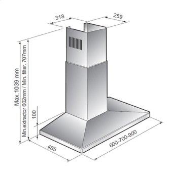 GE Profile GE Profile TM Range Hood