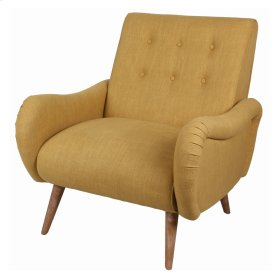 Joanne KD Fabric Tufted Arm Chair Brushed Smoke Legs, Pistachio