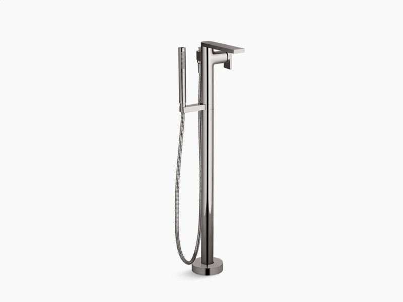Vibrant Anium Floor Mount Bath Filler Trim With Handshower