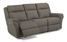 Pike Fabric Power Reclining Sofa with Power Headrests