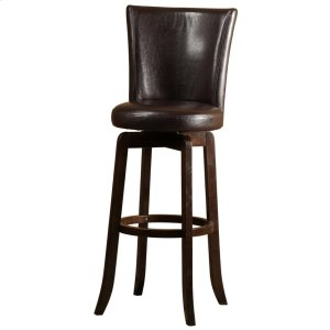 Copenhagen Swivel Counter Stool - Brown/walnut
