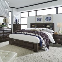 King Storage Bed, Dresser & Mirror, Chest, NS