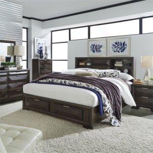LIBERTY FURNITURE INDUSTRIESKing Storage Bed, Dresser & Mirror, Chest, NS