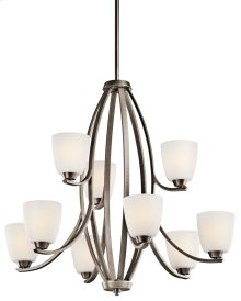 Granby 9 Light Chandelier Brushed Pewter