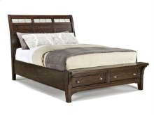 Intercon Bedroom Hayden Sleigh King Bed-Storage Footboard