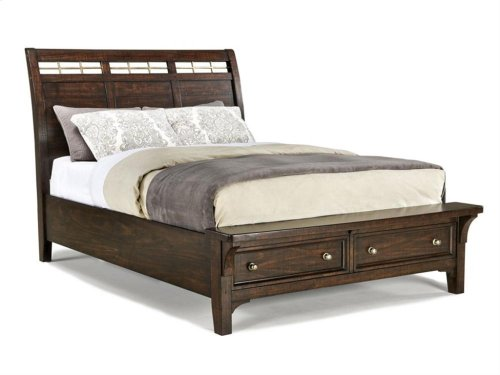 Intercon Bedroom Hayden Sleigh Queen Bed-Storage Footboard