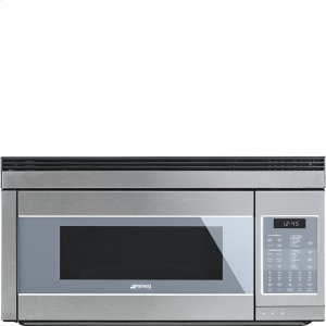 "SmegOver-The-Range Microwave, 30"" Supersilver Glass"