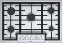"""Benchmark® 30"""" 5 Burner Gas Cooktop, NGMP056UC, Stainless Steel"""