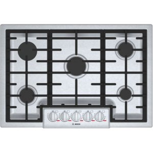 "BoschBenchmark® 30"" 5 Burner Gas Cooktop, NGMP056UC, Stainless Steel"
