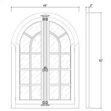 Regency Mirror w/Doors