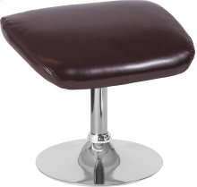 Egg Series Brown Leather Ottoman