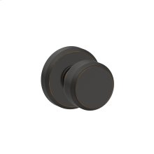 Bowery Knob with Greyson trim Hall & Closet Lock - Aged Bronze