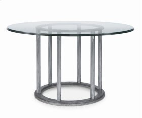 "Cornet Dining Table With 54"" Round Glass Top"