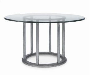 """Cornet Dining Table With 54"""" Round Glass Top"""