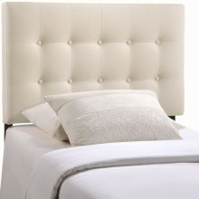 Emily Twin Upholstered Fabric Headboard in Ivory