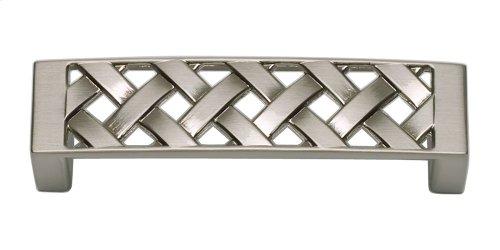 Lattice Pull 3 Inch (c-c) - Brushed Nickel
