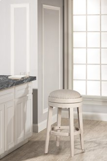 Carlito Backless Swivel Counter Stool - Weathered White