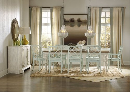 """Sunset Point Rectangle Dining Table with Two 18"""" Leaves"""