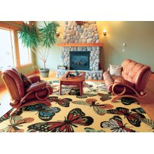 Home & Garden Rs018 Yel Rectangle Rug 7'9'' X 10'10''