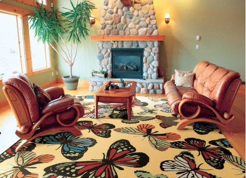 Home & Garden Rs018 Yel Rectangle Rug 7'9'' X 10'10''