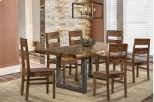 Emerson 7 Piece Rectangle Dining Set (with Woods Chairs)