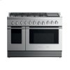 """Fisher & Paykel Dual Fuel Range, 48"""", 6 Burners With Griddle, Lpg"""