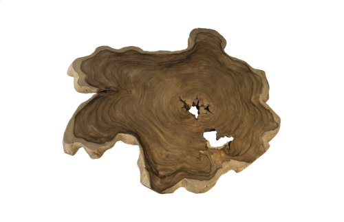 Chamcha Wood Freeform Coffee Table, Wood legs, Round