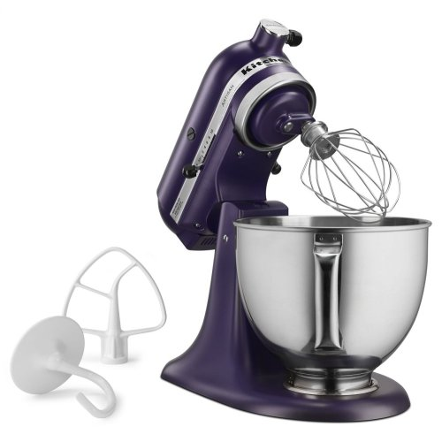 Exclusive Artisan® Series Stand Mixer & Ceramic Bowl Set - Matte Black Violet