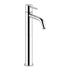 """High version basin mixer, flexible hoses with 3/8"""" connections, without waste"""