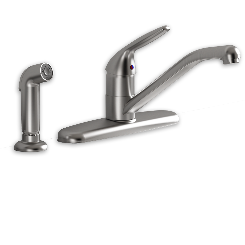 Jocelyn 1 Handle Kitchen Faucet With Separate Side Spray American Standard    Polished Chrome