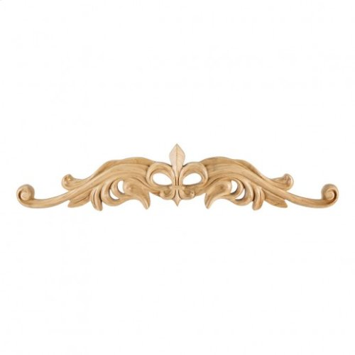 "24"" x 7/8"" x 5-3/16"" Hand Carved Fleur de Lis Onlay, Species: Cherry e Hardware Resource, Inc"