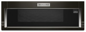 1000-Watt Low Profile Microwave Hood Combination with PrintShield Finish - Black Stainless