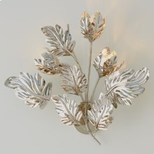 Dancing Leaves Sconce-Nickel-HW