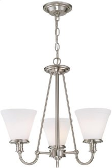 3-lite Chandelier, Ps W/frost Glass Shade, Type A 60wx3